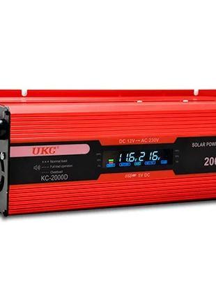UKC 2000W 12-220 Вольт преобразователь тока AC/DC с LCD дисплеем
