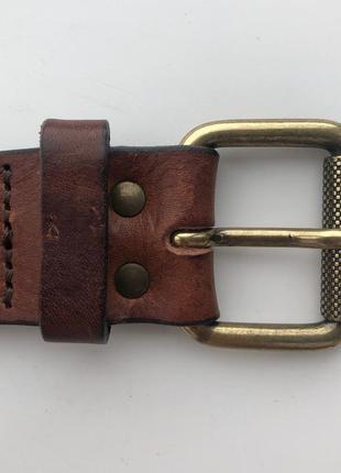 Коричневый кожаный ремень h&m premium quality !