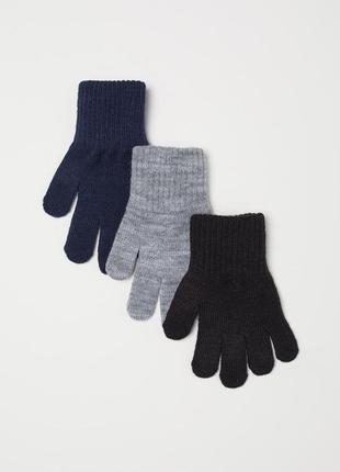 Фирменные перчатки для мальчика h&m, размер 4-8л, 110-128