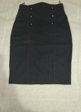 Черная юбка карандаш