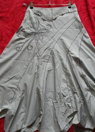 Бренд kingsland. юбка из тонкой плащевки длинная пышная.