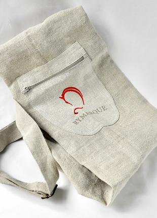 ЭКО-сумка для каремата (йога-коврика) из конопляного полотна
