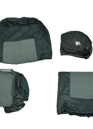 Чехлы на сидения Тюнинг 1+2 темно-серый П