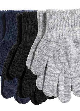 Фирменные перчатки для мальчика h&m, размер 8-14 л, 134-170