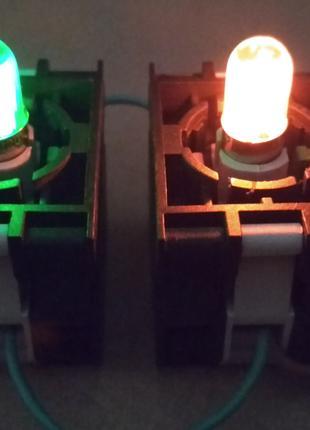 Лампа сигнальная сменная 220-240В неон , цоколь BA9s