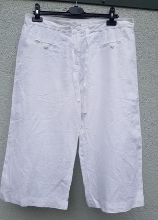 Легкие шорты бриджи лен вискоза marks&spencer