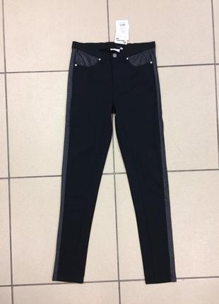 Штаны лосины с кожаными вставками британского бренда b.young (...