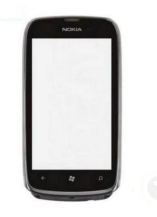 Тачскрин (Сенсор) для Nokia 610 Lumia черный