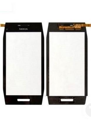 Тачскрин (Сенсор) для Nokia X7 черный