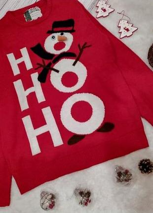 Новогодний рождественский поющий свитер со снеговиком хо-хо-хо...
