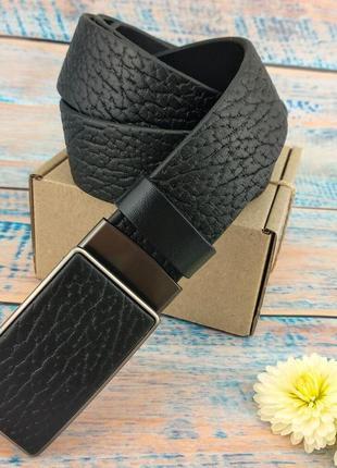 Ремень мужской кожаный jk-3590 с пряжкой-автомат из натурально...