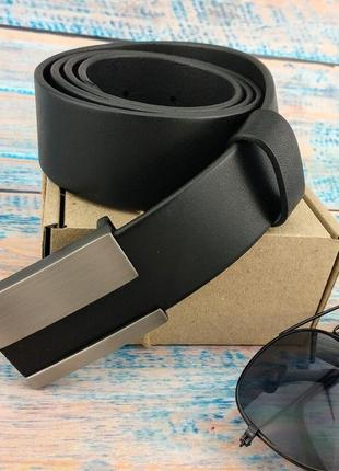 Ремень мужской кожаный с пряжкой-гвоздь jk-4020