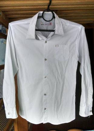 Рубашка белая для мальчика 12-13 лет-сegisa