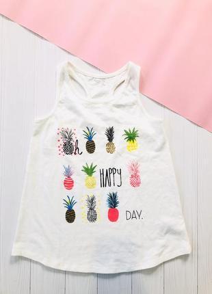 Майка футболка с ананасами