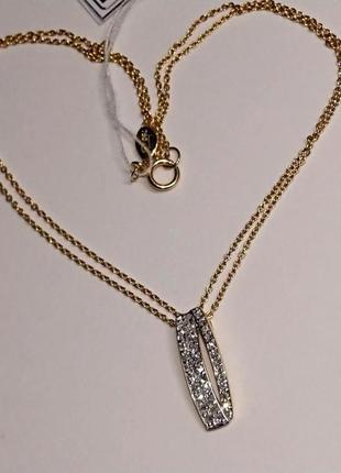 Колье цепочка кулон бриллианты золото 750 жёлтое a.constant 42 см