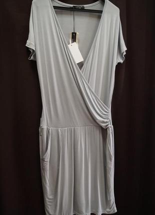 Итальянское платье с запахом (с переливом ) италия