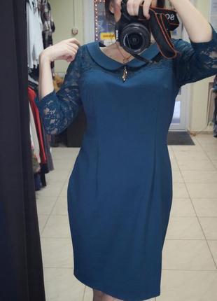 Нарядное платье с кружевным верхом