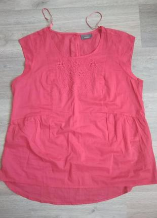 Хлопковая блуза цвета фуксии