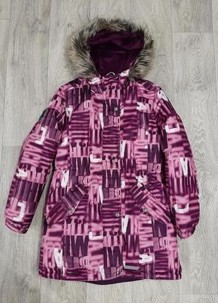 Куртка парка зимняя удлиненная для девочки lenne™ 17363а/1620