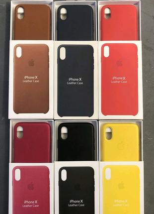 Чехол на iPhone Leather Case 7/7+/8/8+/X/XS/XS MAX