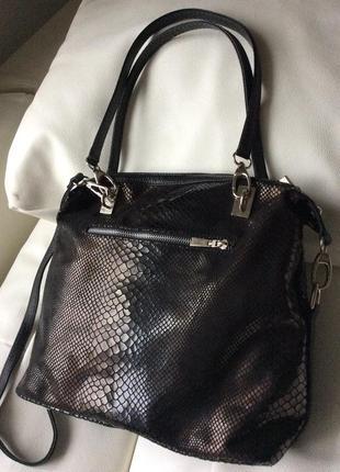 😻временное снижение цены😘 сумка кожа cross bag италия