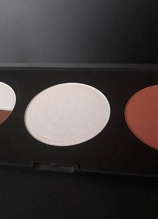 Румяна/хайлайтер/пудра в палитре rosebud contour palette - med...