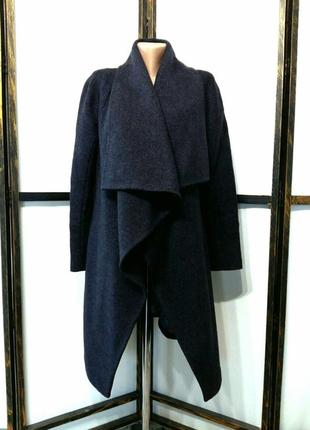 Пальто на запах демисезонное шерсть 100% бренд raslov