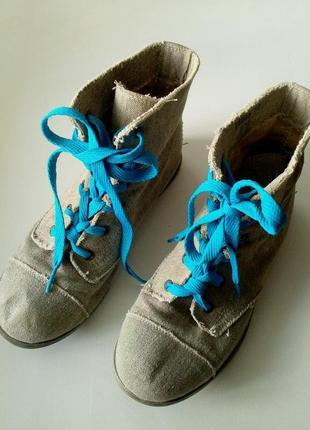 38р. джинсовые летние ботинки