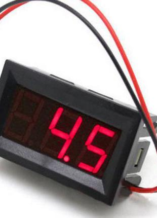 Цифровой встраиваемый вольтметр постоянного тока DC 4.5-30В (1...