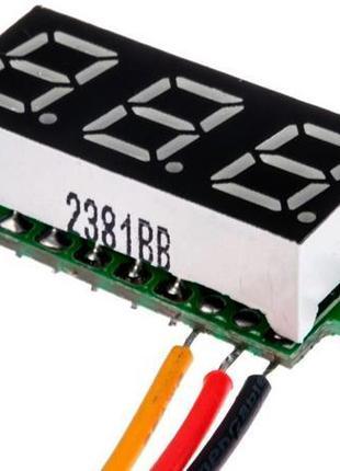 Миниатюрный цифровой встраиваемый вольтметр 100V (10340)