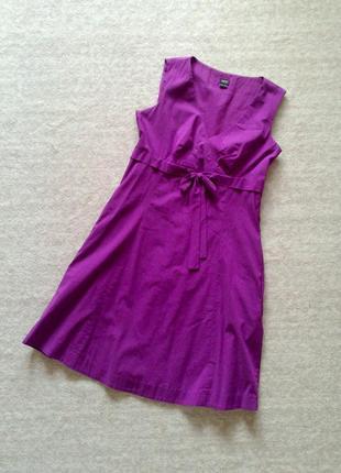 38р. фиолетовое летнее деловое платье