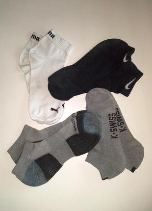 40-42р. комплект низних фирменных носков, цена за 4 пары puma,...