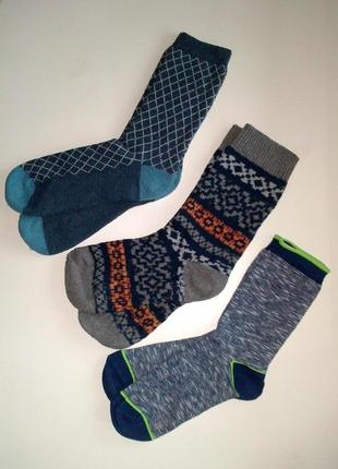 38-39р. комплект  синих носков, махра, цена за 3 пары