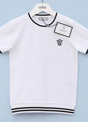 Белая футболка для мальчика, подростка от 7-16 лет wanex