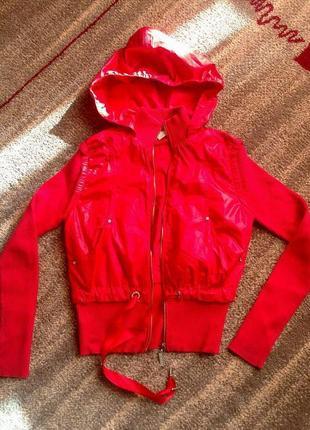 12-13 лет балоневая куртка-ветровка с трикотажными рукавами de...