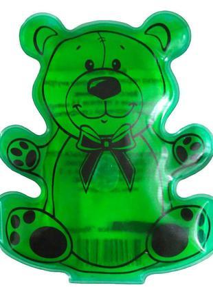 Солевая грелка «Мишка» Зеленый