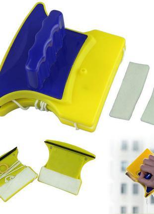 Магнитная щетка для мытья стекол Double Sided Glass Cleaner VX...