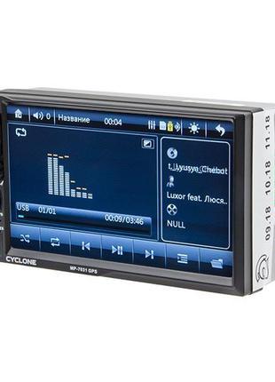 Автомагнитола CYCLONE (циклон) MP-7031 GPS, 2 DIN, автомагнито...