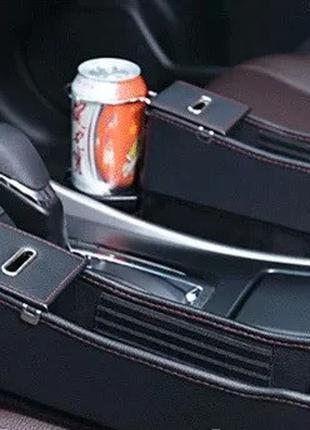 Органайзер карман с АЗУ между сиденьями автомобиля с 2 выходам...