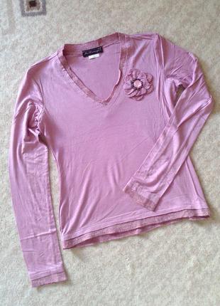 38-40р. вискозная кофта-блузка с цветком jus d'orange
