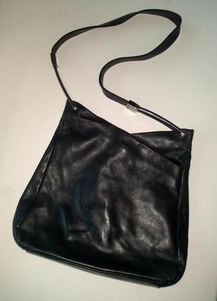 Чёрная кожаная сумка new style bags