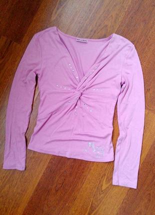 34-36р. вискозная кофта-блузка со стразами mariella burani