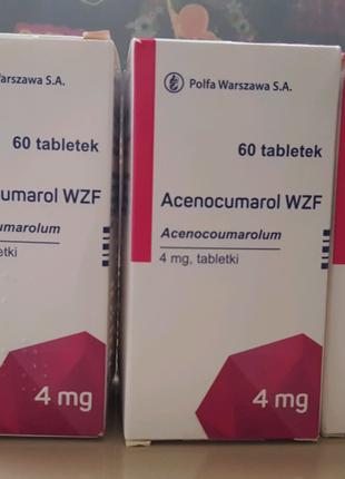 Аценокумарол, acenocumarol таблетки 60шт
