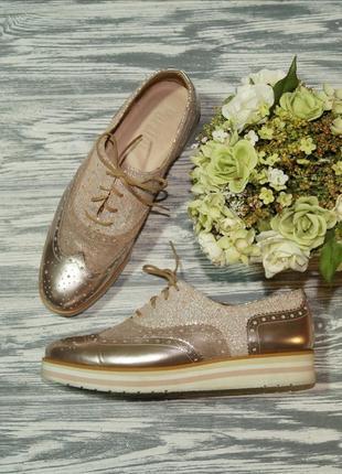 🌿38🌿pertini. кожа. испания. стильные туфли, оксфорды на легкой...