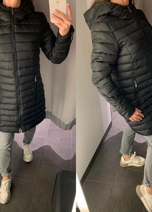 Стеганое демисезонное пальто курточка куртка amisu есть размеры
