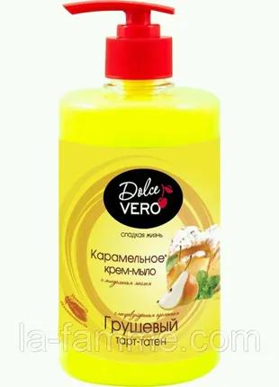 Крем-мыло флакон с ароматом Грушевый тарт тарет Dolce Vero 500 мл