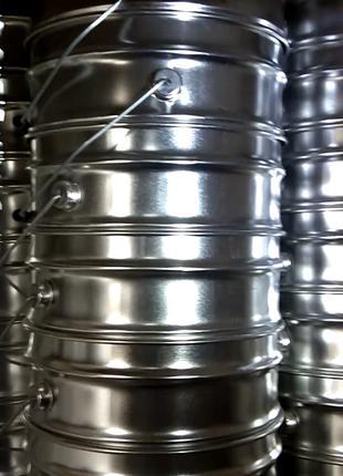 ведро металлическое 20л (крышка под обруч, обручи в комплекте)