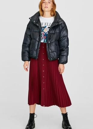 Новая обьемная куртка stradivarius стеганая оверсайз puffer coat