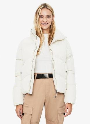 Новая объемная куртка оверсайз bershka (xs,s,m,l) puffer стеганая