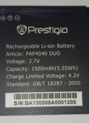 Аккумулятор на Prestigio PAP 4040 1500 mAh